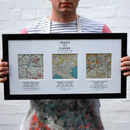 Personalised Map Wedding Art