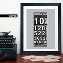 Personalised Anniversary Time Print
