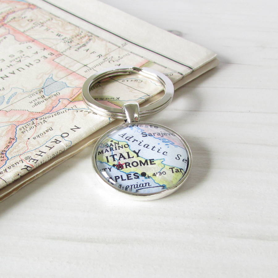 Personalised location map keyring by evy designs personalised location map keyring by evy designs ltd gumiabroncs Image collections