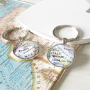 Personalised Location Map Keyring by EVY Designs Ltd
