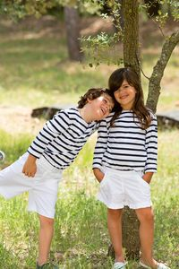 Breton Style Long Sleeved T Shirt - clothing