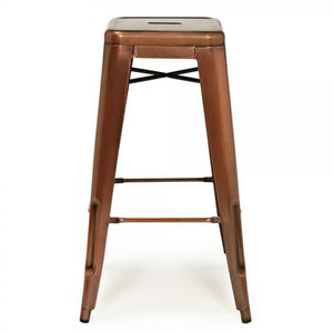 Copper Industrial Bar Stool