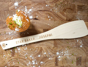 Personalised 'Star Baker' Wooden Spatula - aspiring chef