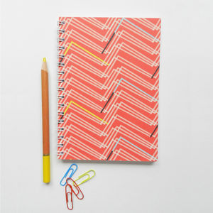 Geometric Spiral Bound Notebook