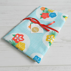 Flowerpress Cotton Tea Towel - kitchen accessories