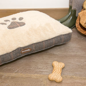 Tweed Patterned Dog Mattress - dogs