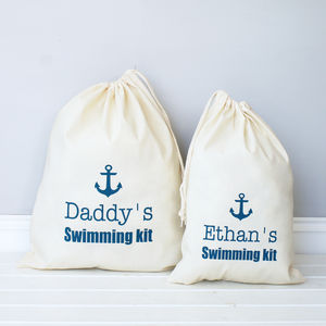 Personalised Swimming Or Beach Bag - lounge & activewear