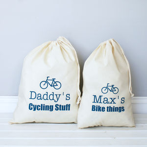 Personalised Cycling Storage Bag - men's sale