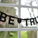 Personalised Make Your Own Phrase Garland 127 Pcs Black