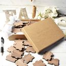 Personalised Wood Heart Wedding Guest Puzzle