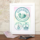Wedding, Engagement & Honeymoon Stamp Print