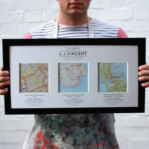 Your Story. Mapped Out. Personalised Map Art - retirement gifts