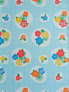 Flowerpress Cotton Fabric - throws, blankets & fabric