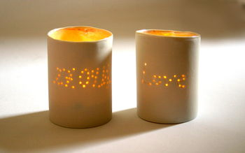 Personalised Tea Light Holder With Wedding Date