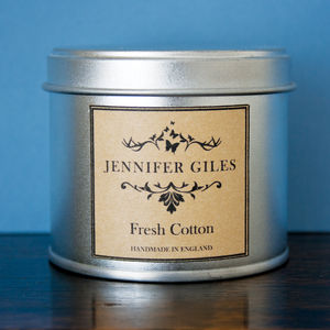 Fresh Cotton Scented Hand Poured Candle