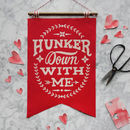 Vintage Style Sentiment Wall Hanging Red