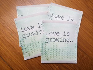 Love Is Growing Wedding Favour