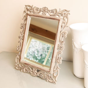 Distressed Carved Mirror - home accessories