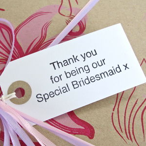 'Thank You Bridesmaid' Gift Tag - gift tags & labels