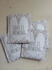 Lace Love Is Brewing Wedding Favour - unusual favours