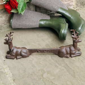 Cast Iron Garden Stag Boot Scraper