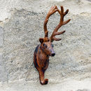 Antique Brown Stag Wall Hook
