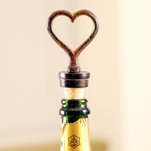 Cast Iron Heart Bottle Stopper - drink & barware