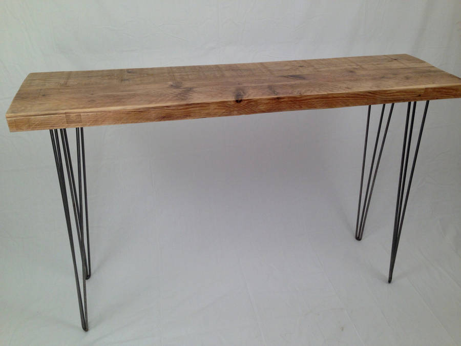 reclaimed side table: with mid century modern twist by wicked boxcar ...