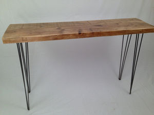 Reclaimed Side Table: With Mid Century Modern Twist