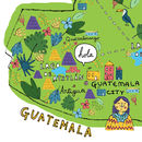 Guatemala Digital Map Print