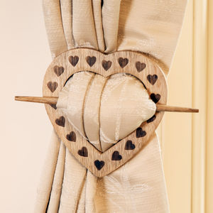 French Chalet Heart Curtain Tie Back - curtains