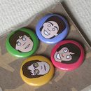 Beatles Badges Or Magnets Set Of Four