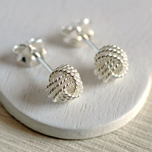 Sterling Silver Knot Earrings - earrings