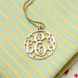 Personalised Monogram Circle Necklace - necklaces & pendants