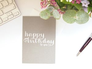 Happy Birthday To You Letterpress Card