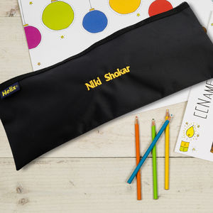 Personalised Pencil Case And Pencils - pens, pencils & cases