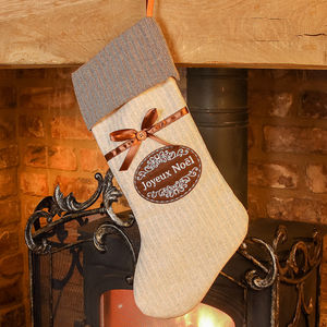 Joyeux Noel Stocking - view all decorations