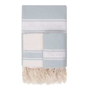 Set Of Personalised Fouta Bathroom Towel - bathroom