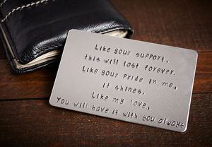 Personalised Wallet Card - fashion