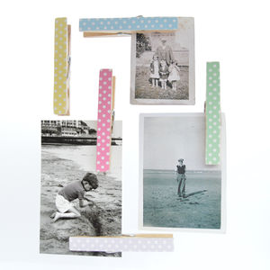 Pastel Polka Dot Magnetic Note Holders - hooks, pegs & clips