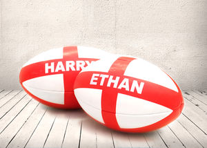 Personalised England Rugby Ball - gifts for him