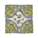 Paisley Lemon Pocket Square