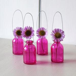 Fuschia Miniature Single Stem Bottle - home accessories