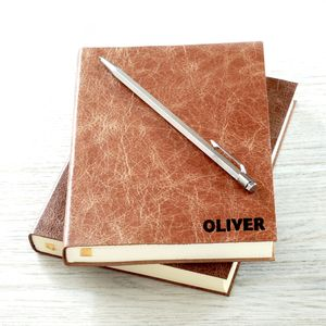 Personalised Leather Daily Diary 2015
