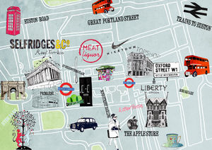 Personalised Illustrated Map Or Area Guide - drawings & illustrations