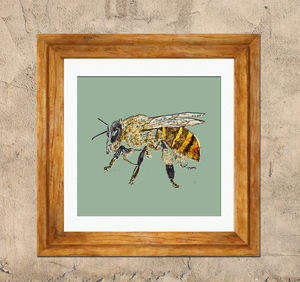 Green Bee - contemporary art
