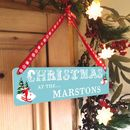 Personalised Alpine Christmas Sign