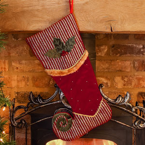 Luxury Velvet Elf Stocking