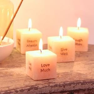 Live Love Laugh Dream Cube Candle - table decoration