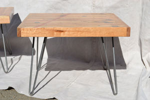 Coffee Table: Salvaged Oak With Red Resin Inlay - furniture